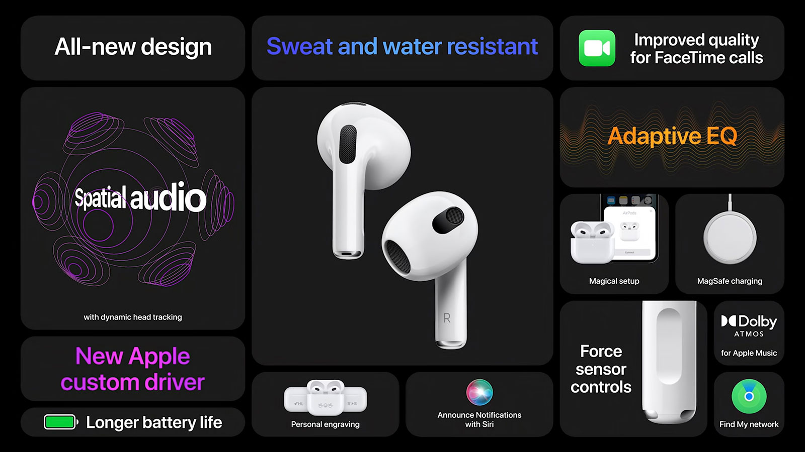 Apple announces third-generation AirPods with new design, spatial audio