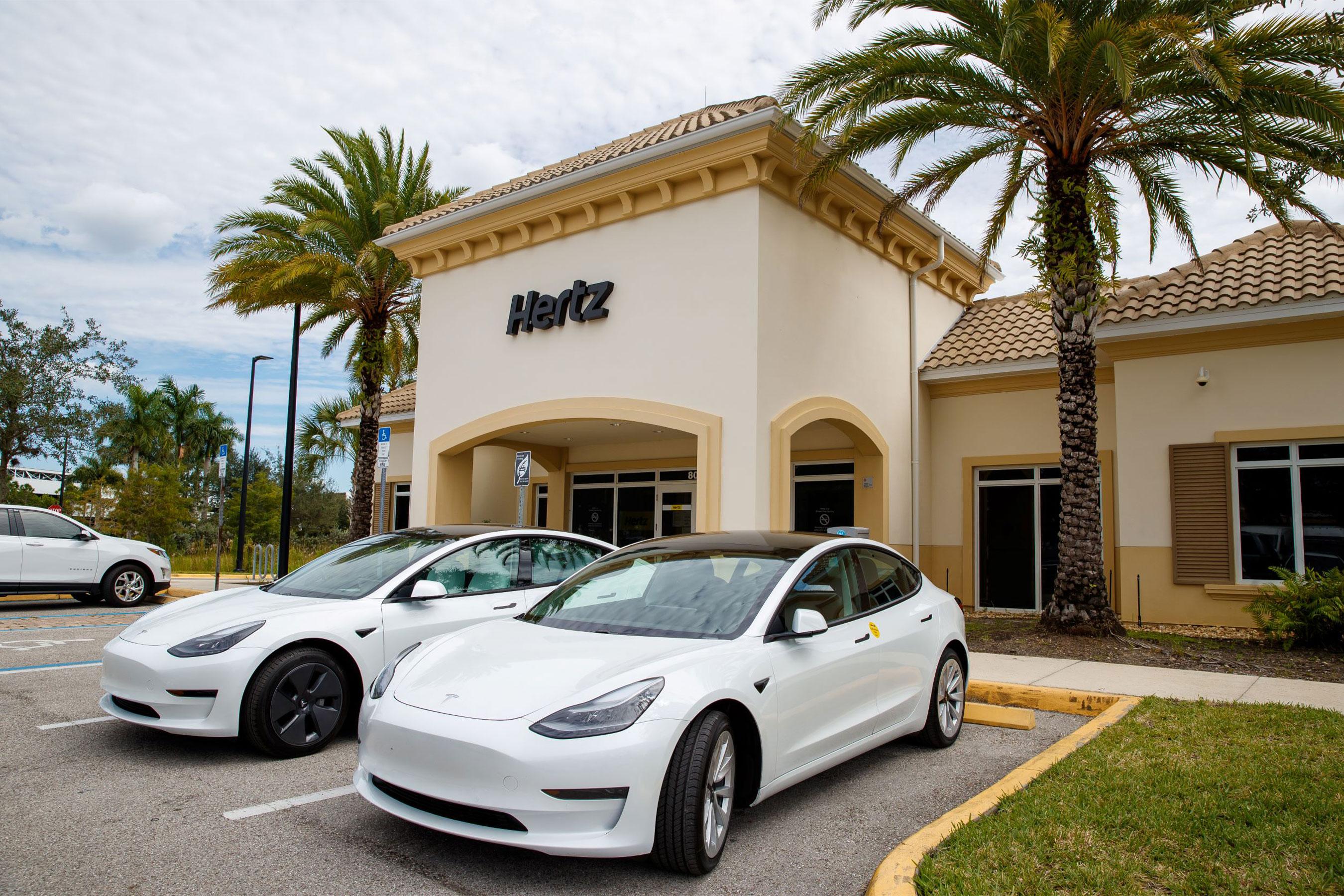 techcrunch.com - Aria Alamalhodaei - Tesla, Hertz shares rise following order for 100,000 EVs