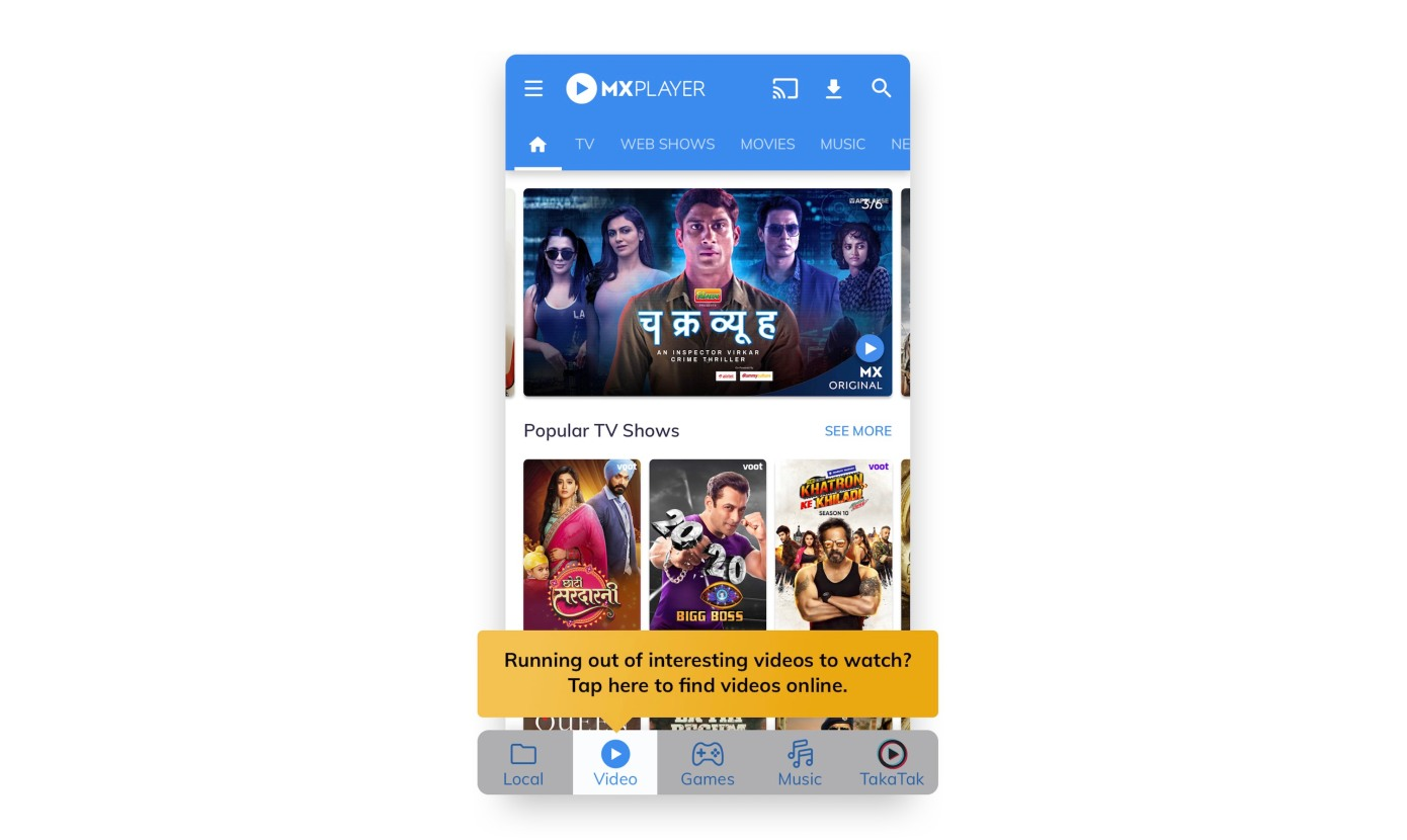 India's MX Player tops 1B downloads