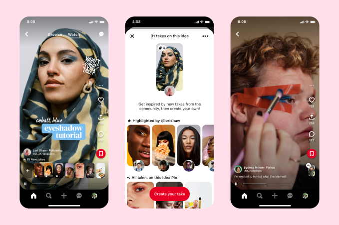 Pinterest gets more TikTok-like with a 'Watch' tab for videos, announces $20M in creator rewards